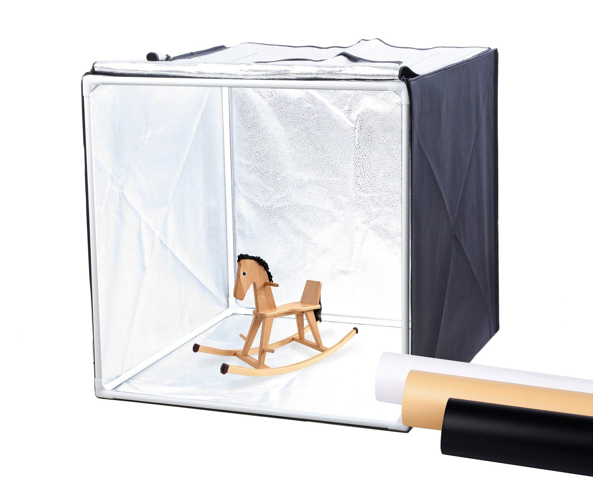 Finnhomy Professional Portable Photo Studio Photo Light Studio Photo Tent Light Box Table Top Photography Shooting Tent Box Lighting Kit, 24'' x 24'' Cube by Finnhomy
