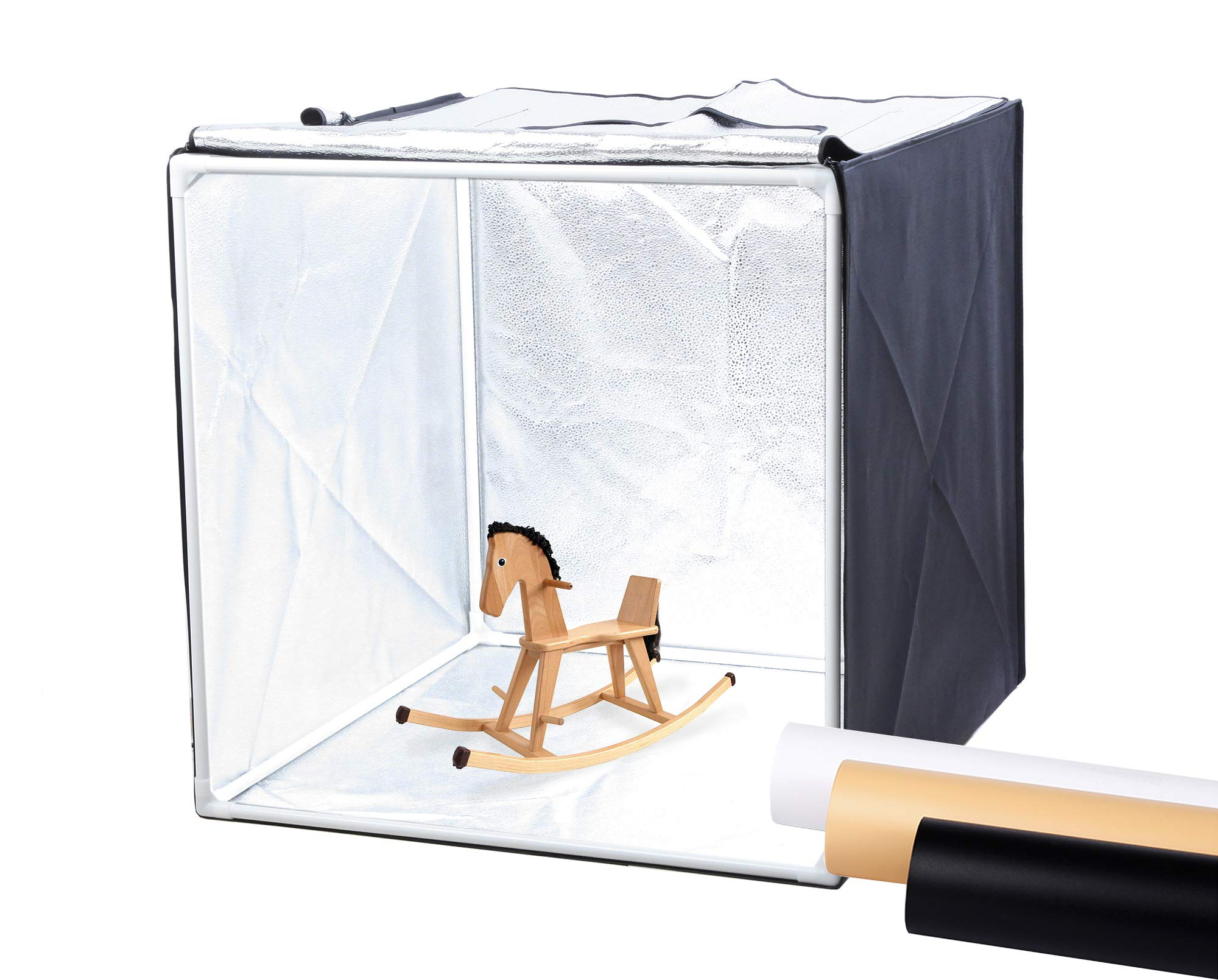 Finnhomy Professional Portable Photo Studio Photo Light Studio Photo Tent Light Box Table Top Photography Shooting Tent Box Lighting Kit, 24'' x 24'' Cube by Finnhomy (Image #1)