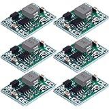 DECARETA 6 Piezas Ajustable Módulo Convertidor Buck,Voltaje de Entrada 4.5V-28V, Voltaje de Salida 0.8V-20V, Corriente…