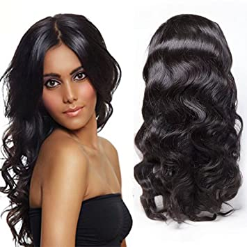 Maxine 360 Lace Frontal Wig Cap With Baby Hair Body Wave Brazilian Virgin Hair 100%