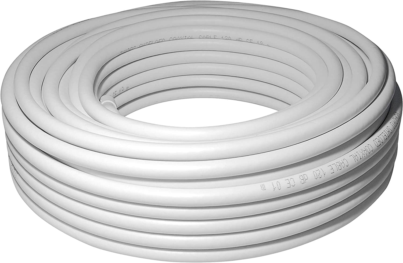 Sat-Fox HQ-120 Pro - Cable coaxial de Antena (20 m, 120 dB, 4 ...