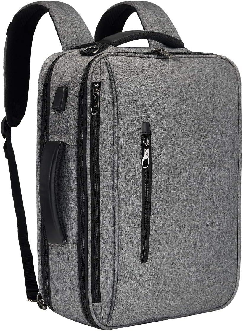 SLOTRA Mochila Ordenador Portatil Bolsa Antirrobo Impermeable 15.6 Pulgada para Viaje Oficina Escolares Negocios Trabajo con USB