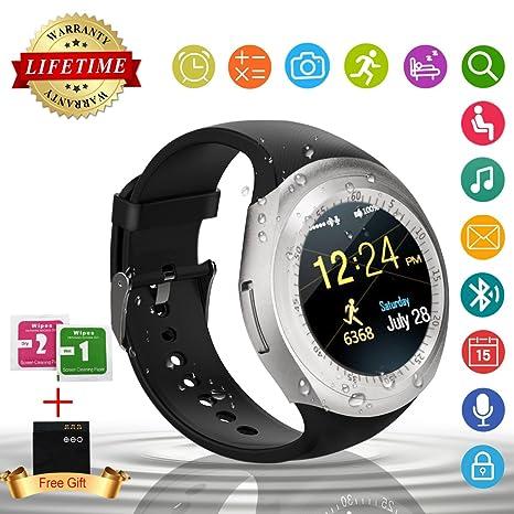 Smart Watch,Teléfonos Inteligentes Reloj Inteligente Bluetooth Smart Watch Reloj Inteligente Hombre Mujer Niño Reloj