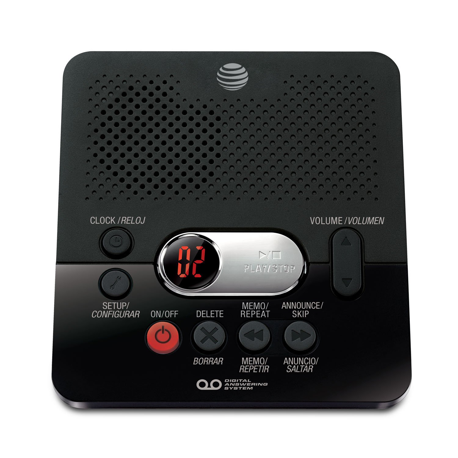Att Digital Answering Machine With 60 Minutes Record Time And Time