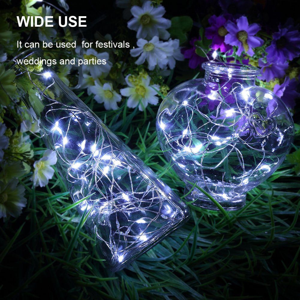 GDEALER 6 Pack Fairy String Lights 7.2ft 20LED Fairy Lights Battery ...
