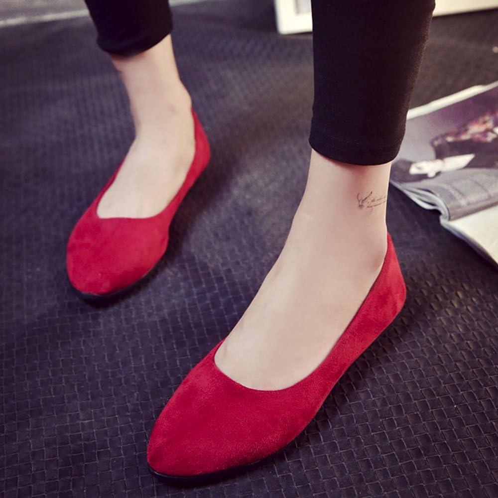 Chaussures Femme Ballerines Plat Mocassins Loafers Alaso Doux Confort Su/ède Fl/âneurs Chaussures Chaussons Pas Cher EU 35-42