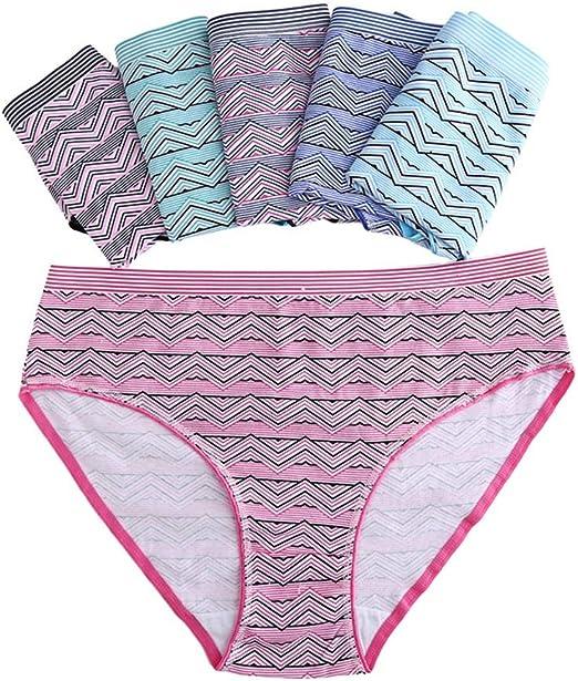 Actuallyhome - Bragas de algodón para Mujer (Talla Grande, Cintura Media, 4 Unidades): Amazon.es: Juguetes y juegos