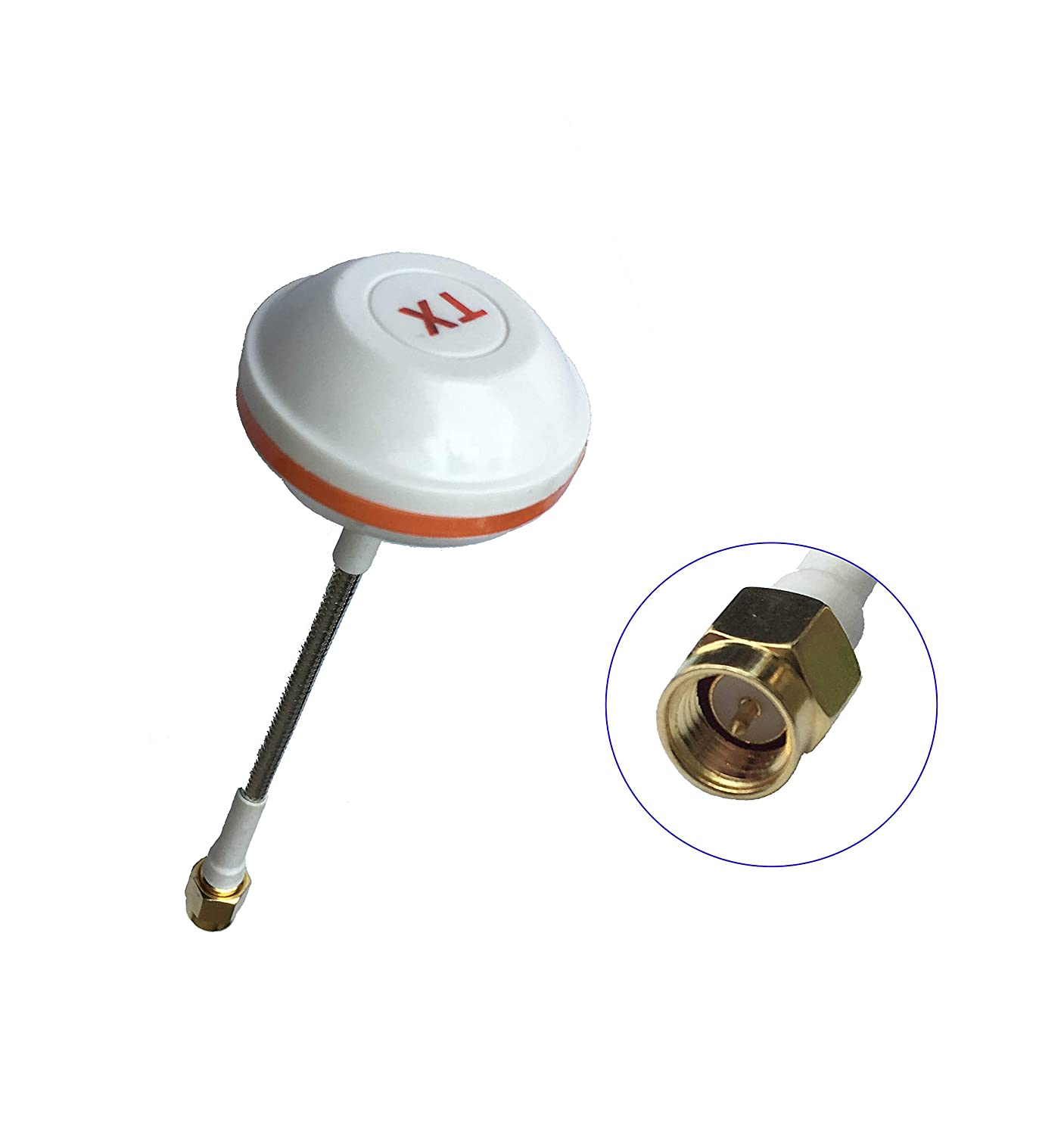 Beyondoor 5.8GHz FPV Antenna,Clover Leaf Antenna Circular Polarized with SMA Straight Male for Transmit 5GHz Signal