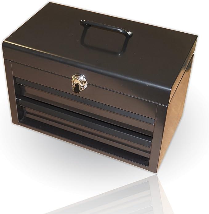 IKEA FIMPA caja acero caja de herramientas caja de herramientas caja de vacío Joyero Joyero armario de joyas Joyero grande vintage: Amazon.es: Bricolaje y herramientas