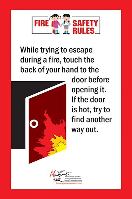 Managementtalk Posters Fire Safety Rules While Trying To Escape