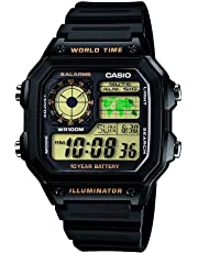 Casio Youth Digital Black Dial Men's Watch - AE-1200WH-1BVD