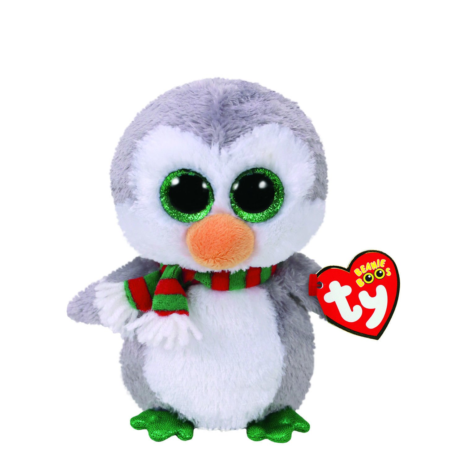 e76b6e9e81d Amazon.com  Claires Girls TY Beanie Boo Chilly the Penguin Small Plush Toy  in White Grey  Claire s  Clothing