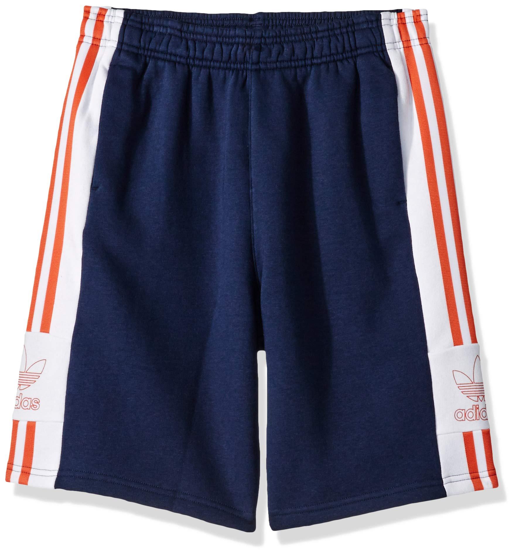 adidas Originals Boys' Big Outline Tees, Collegiate Navy/White/raw Amber, Small