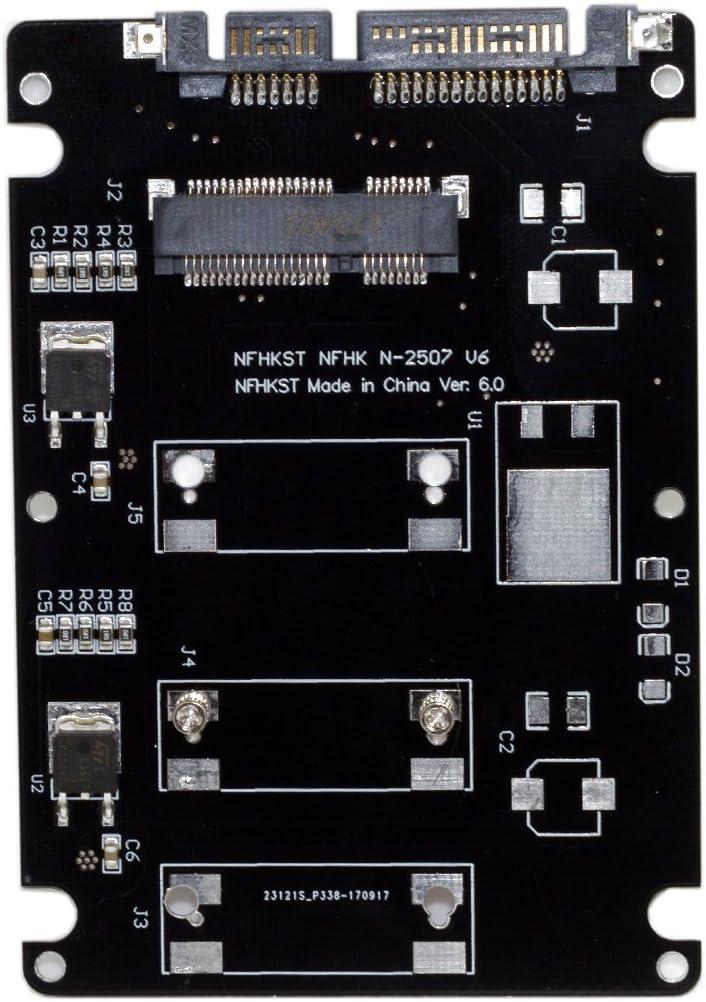 Cablecc Mini PCI-E mSATA a USB 3.0 Externo SSD PCBA Adaptador Tarjeta con Caja