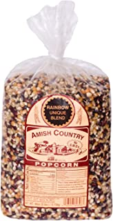 product image for Amish Country Popcorn | 6 lb Bag | Rainbow Popcorn Kernels | Old Fashioned with Recipe Guide (Rainbow - 6 lb Bag)