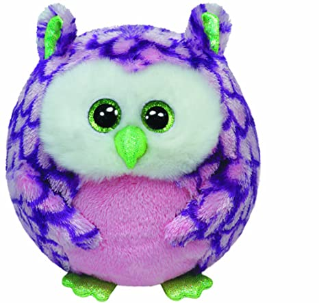 Ty Beanie Ballz Ozzy Pink Owl Regular Plush