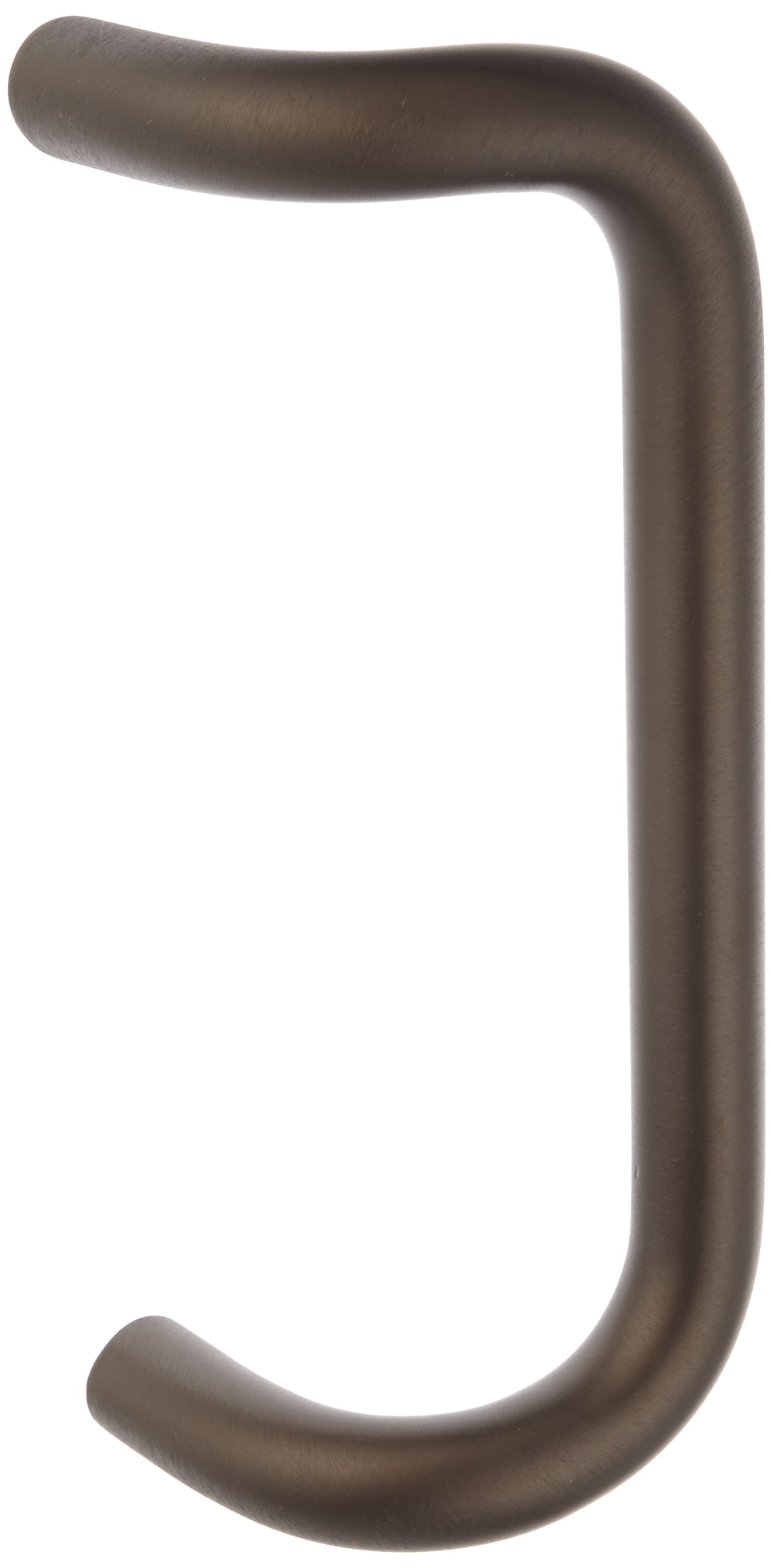 Rockwood BF157.313 Aluminum 90-Degree Offset Door Pull, 1'' Diameter x 10'' Center-to-Center, Through Bolt Mounting for 1-3/4'' Door, Dark Bronze Anodized Finish
