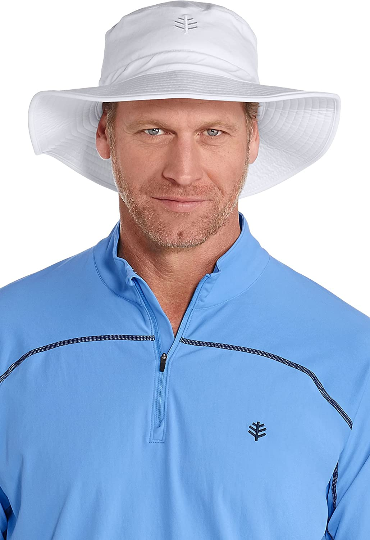 682c09e294f Coolibar UPF 50+ Men s Chlorine Resistant Bucket Hat - Sun Protective at  Amazon Men s Clothing store