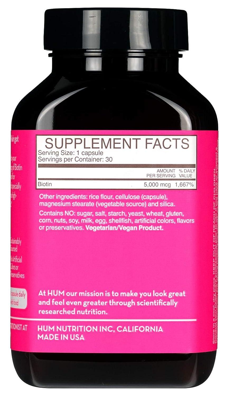 Amazon.com : HUM Killer Nails - High Potency Vegan Biotin 5000 mcg ...
