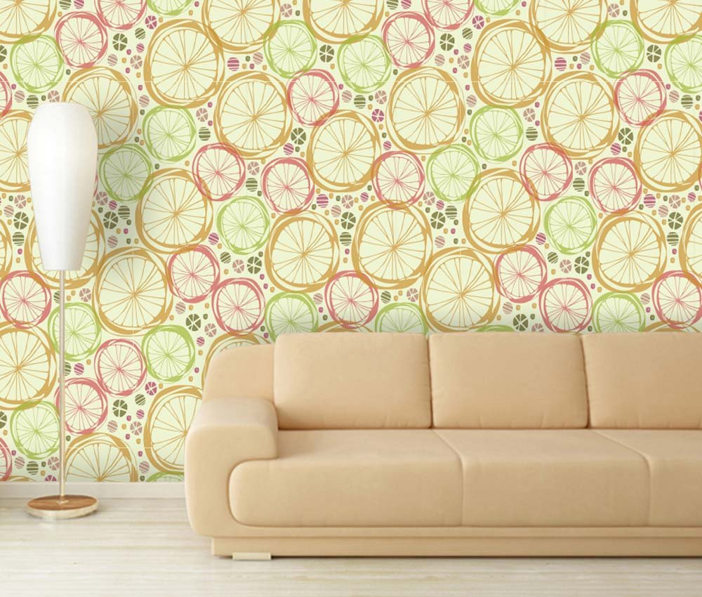 Large Wall Mural Seamless Floral Pattern Vinyl Wallpaper Removable ...