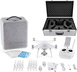 DJI Phantom 4 Quadcopter with 4K Camera, Transmitter Included - Bundle 100W 5350mAh Intelligent Flight Battery, Aluminum Case
