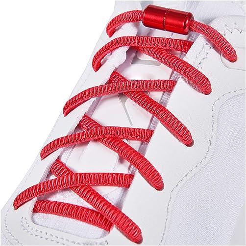 Cordones elásticos para zapatos para niños y adultos, sin atar cordones para zapatillas de deporte, tabla y zapatos casuales, talla única (2 pares), Rojo (Rojo), X-Large: Amazon.es: Zapatos y complementos
