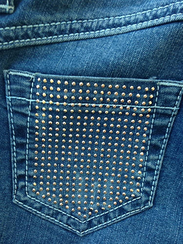 Miss Grant Little Girl Denim Short Cuff Shorts Blue
