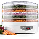 Kitchen Electric Pro 5 Tier Food Dehydrator, Snackmaster, Food Preserver, (White)
