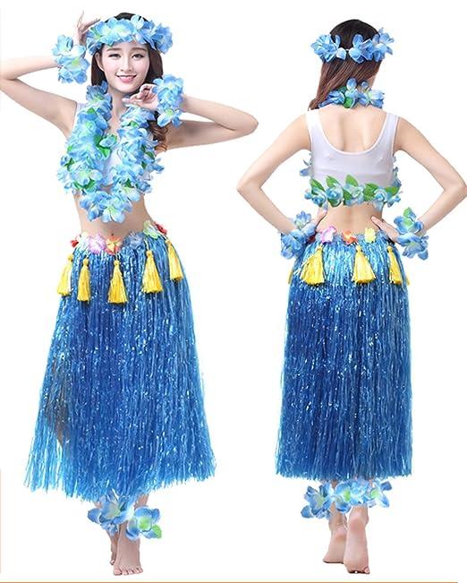 Amazon.com  Hawaii Hula Adult Clothing Eight Piece Ballet Suit Dance  Performance Costume Dress Skirt Garland Full Sets  Clothing e018cbcdbe2d