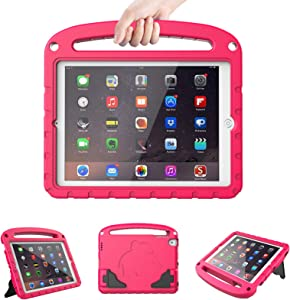 LTROP Kids Case for Apple iPad 4 3 2 - Light Weight Shock Proof Convertible Handle Stand Case for iPad 9.7