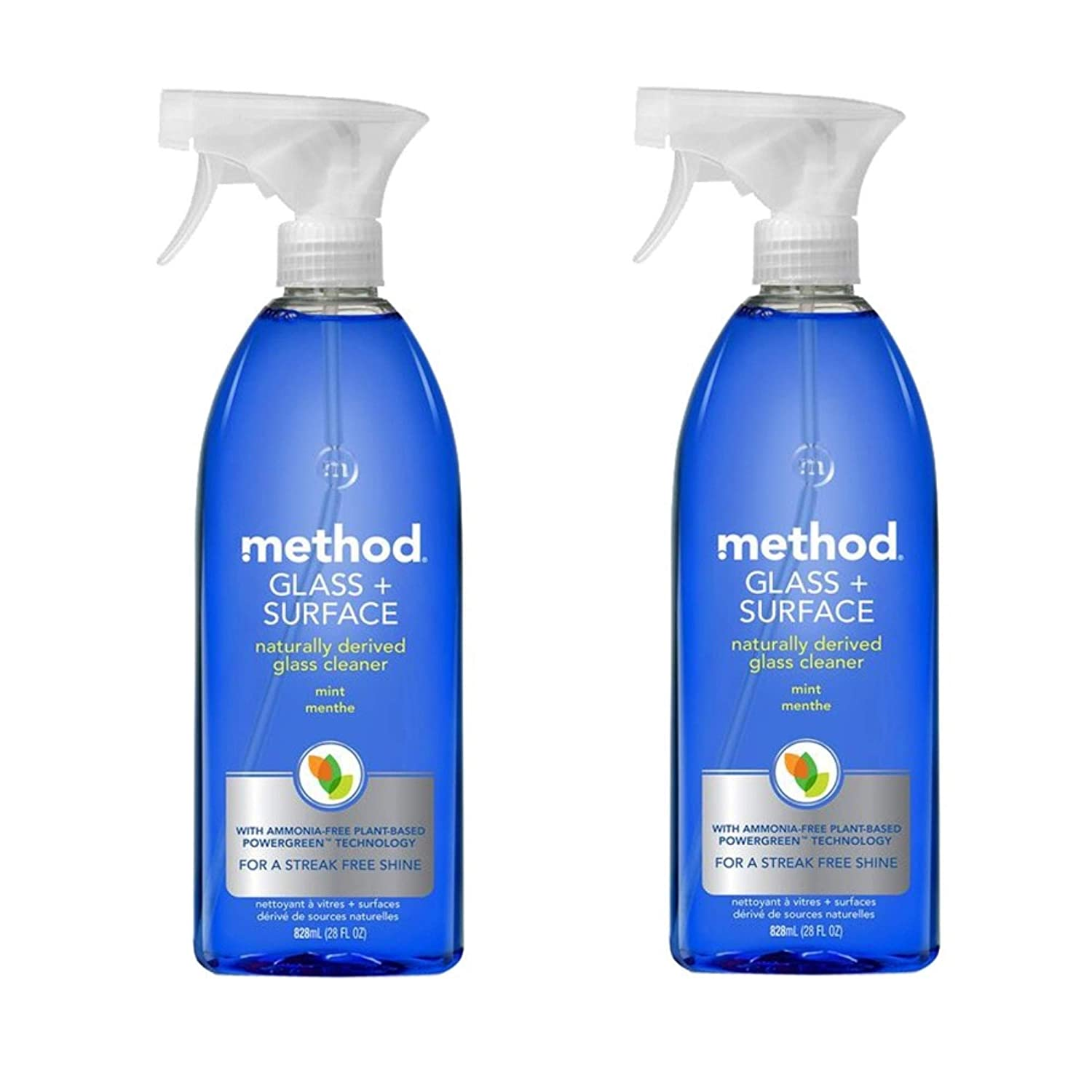 Method Natural Glass + Surface Cleaner - Mint - 28 oz - 2 pk by Method B00J5HH1NS Glass Mint 2