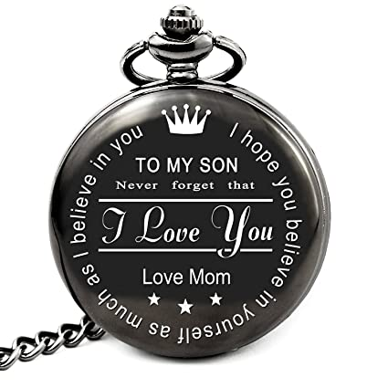 LEVONTA To My Son Pocket Watch From Mom Gifts Mother Birthday For