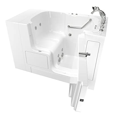 "American Standard Gelcoat Value Whirlpool 32""x52"" Right Side Outward Door Walk-In Bathtub in White"