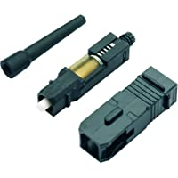 Panduit SC OptiCam® Fiber Optic Connector Negro - Cable de Fibra óptica (Negro)
