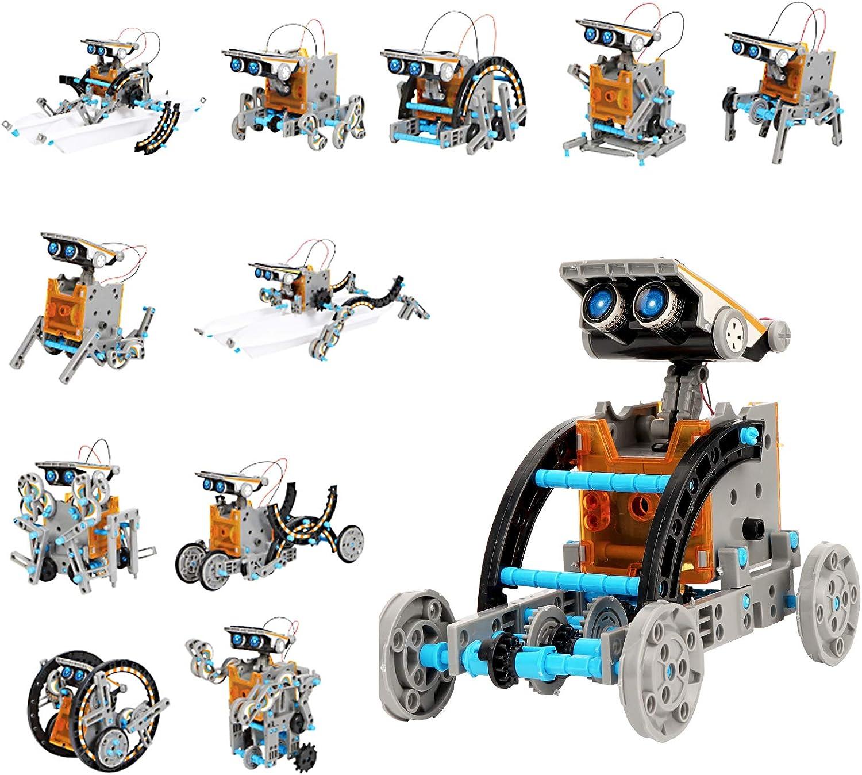 Ulikey Robot Juguete para Niños, 12 en 1 Kit de Ciencia, Kit de Construcción Robot Solar, DIY Juguete Educativo, Regalos Creativo para Niños de 8 a 12 Años (A)