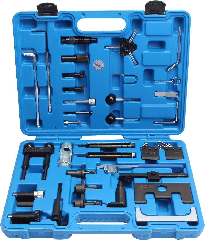 Cclife Motor Einstellwerkzeug Tdi Zahnriemen Werkzeug Arretierwerkzeug Steuerriemen Nockenwellen Kompatibel Mit Vag Audi Vw 1 2 1 9 2 0 2 5 3 3 Ltr Auto