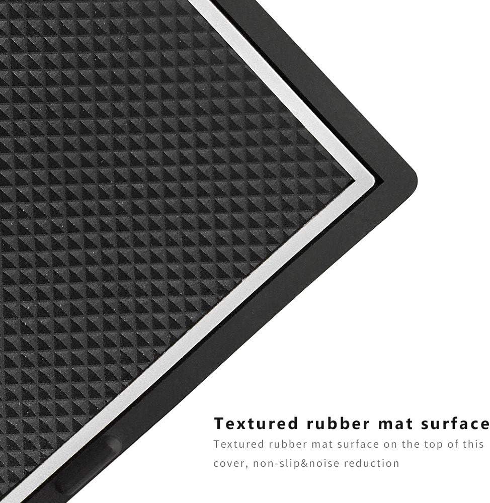 Intget Secret Compartment Cover Plate Center Console Organizer Tray for 2014-2018 GMC Sierra 1500 2500HD 3500HD Denali Chevrolet Chevy Silverado White