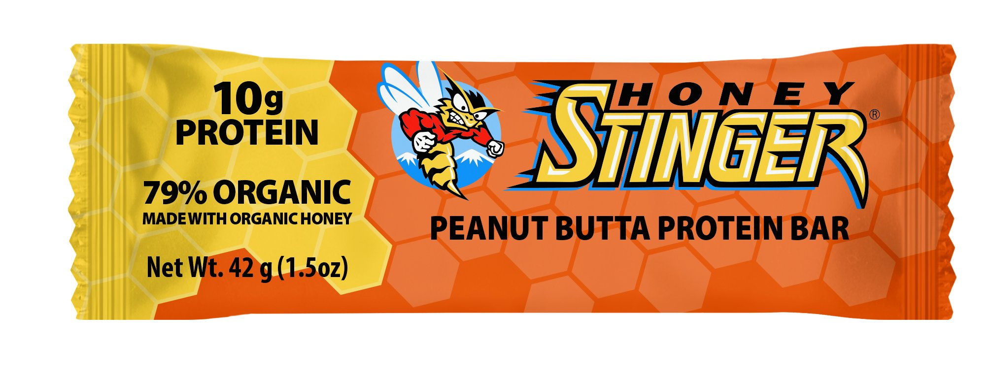 Honey Stinger Protein Bar, Peanut Butta, 1.5 Ounce (Pack of 15)