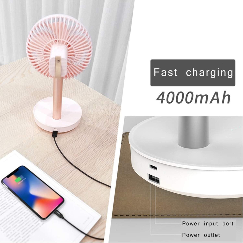 Color : Black Fan Cooling Fan Adjustable Portable Mini Hand Fan Rechargeable USB Desk Fan Dropshipping Mini Portable Cooling Fan