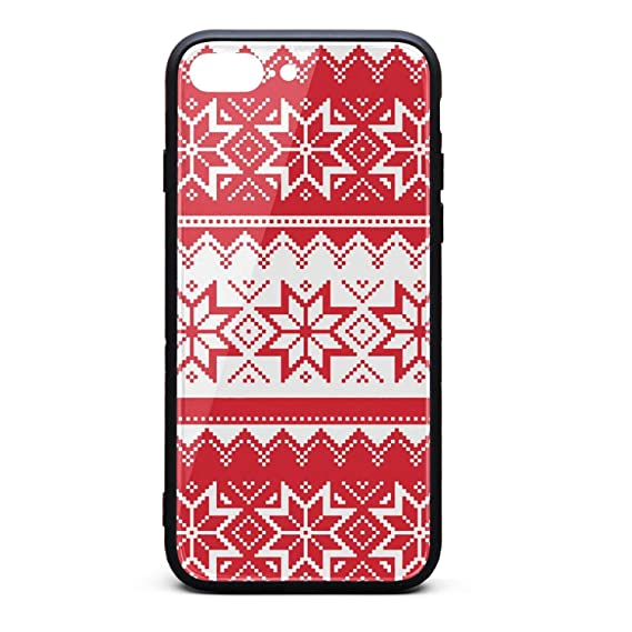 7386cba60 Phone case for 7 Plus iPhone 8 Plus Ugly Christmas Sweater Pattern  Wallpaper TPU Protective