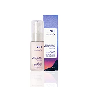 YUNI Sleepy Beauty Bakuchiol and Biotic Face Serum, Natural Retinol Alternative, Refine and Renew Skin Overnight, 1 fl. oz.