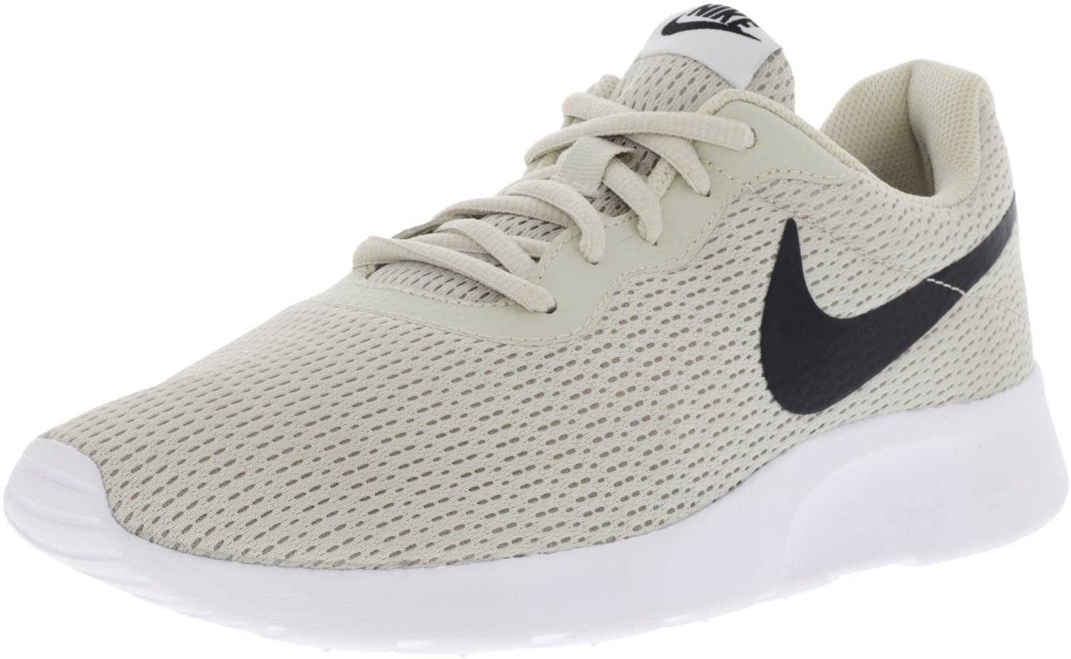 NIKE Men's Tanjun Sneakers, Breathable Textile Uppers and Comfortable Lightweight Cushioning B000G468QU 10.5 D(M) US|Light Bone/Black-white