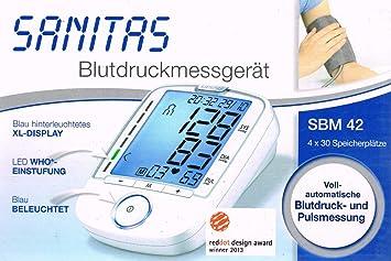 Sanitas Tensiómetro de brazo sbm42/SBM 42 para ermittel de valores desde el tensiómetro