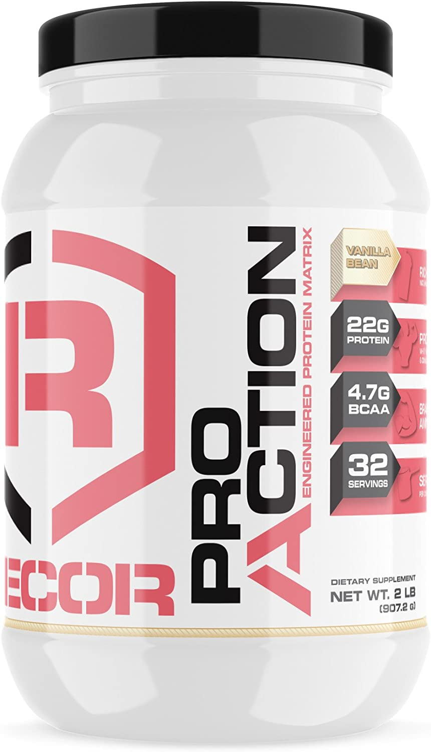 Reaction Nutrition Recor Pro Action Whey Protein, Vanilla Bean, 2 Pound