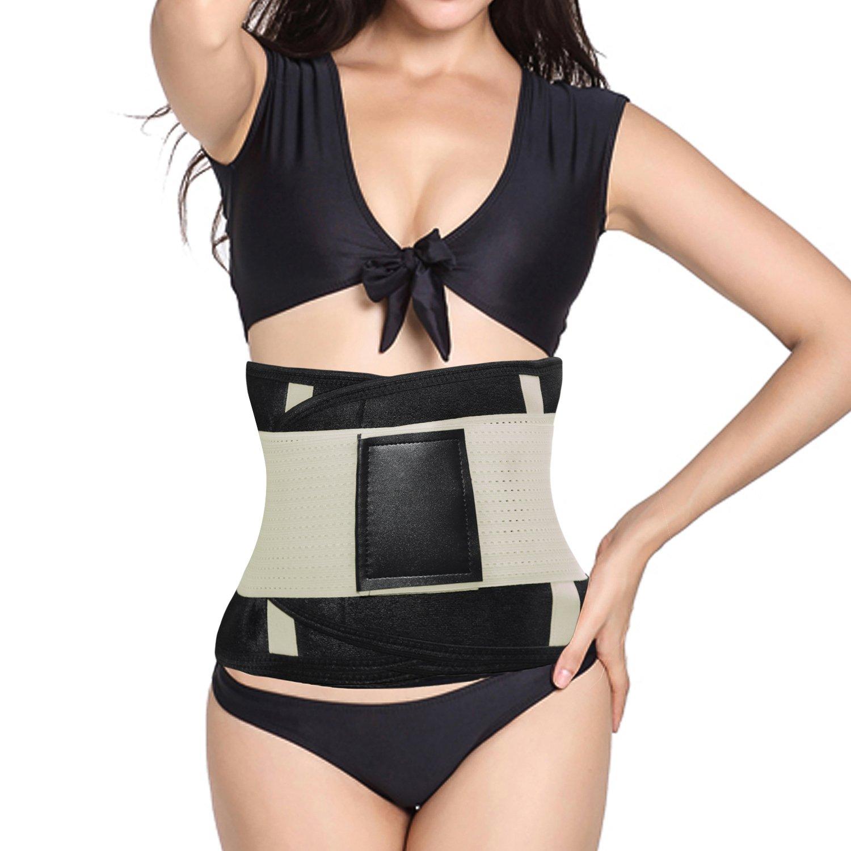 429e0a78a4c FOUMECH Women s Waist Trainer Belt-Waist Cincher Trimmer-Slimming Body  Shaper Belt-Sport Girdle Belt
