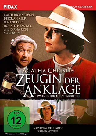 Agatha Christie: Zeugin der Anklage (Witness for the Prosecution) / Fulminante Verfilmung des Agatha Christie-Klassikers mit Starbesetzung (Pidax Film-Klassiker)
