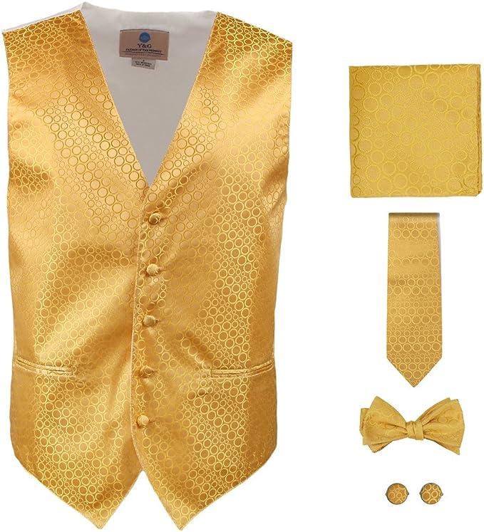 Y&G VS1007-XL Regalos para hombre de puntos del oro chaleco ...