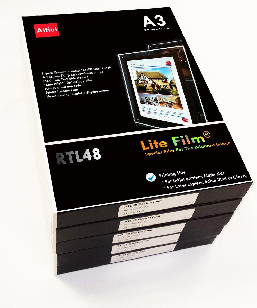 RTL48 - 10 hojas x A3 - Premium y grueso/Lite retroiluminada ...