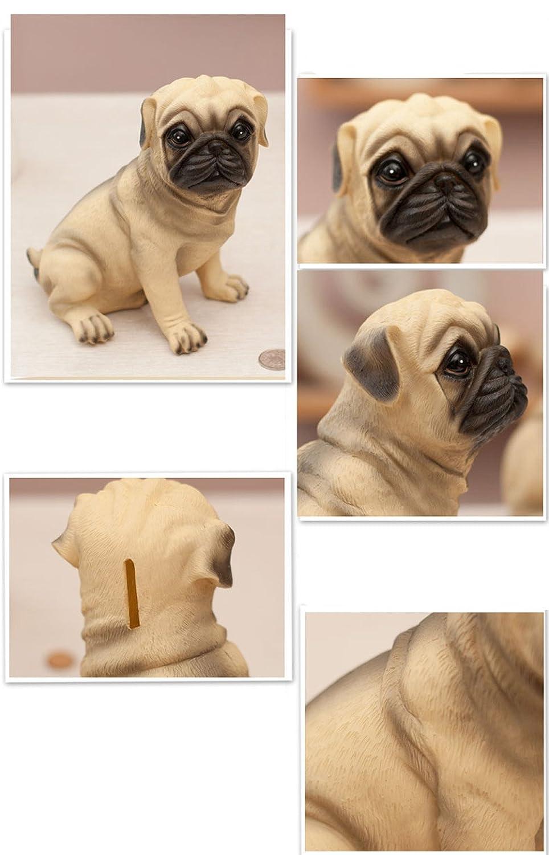 MathewArt High Emulation Resin Creative Cute Puppy Pug Dog Piggy Bank Coin Box Mathew M SG/_B07463NNHH/_US