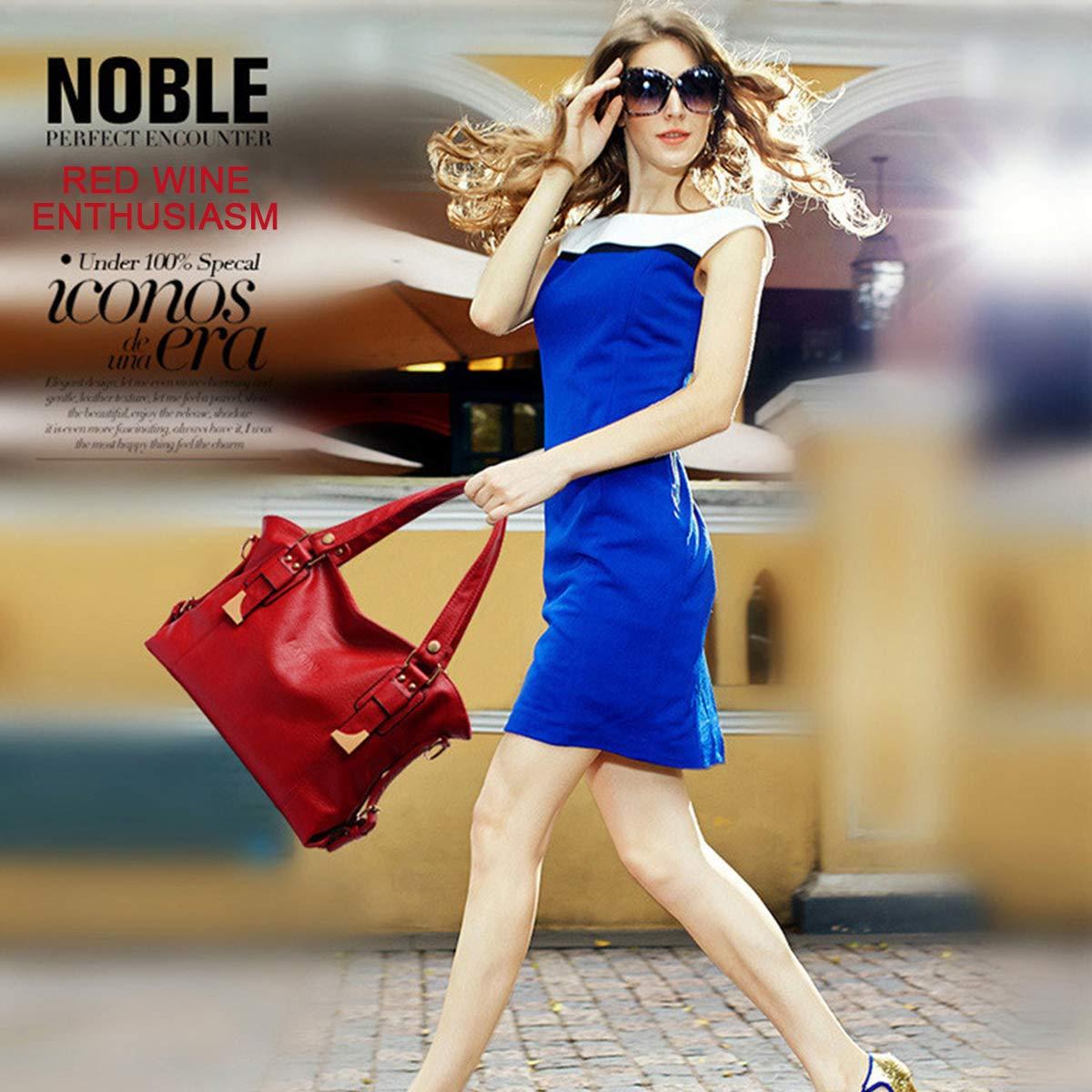 Love LABINI Femme Sacs port/és Main Cuir Sacs port/és /épaule Mode Sac a Main Loisir Sac Messenger Souple Sacs bandouli/ère Nouvelle Cabas Bleu